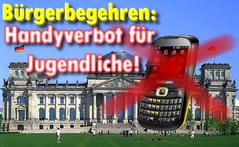 Bürgerbegehren: Handyverbot für Jugendliche gefordert!