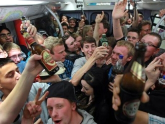 Besoffene Jugendliche in U-Bahnen und Bussen!