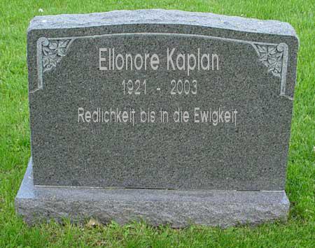Ewige Ruhe für Ellonore Kaplan