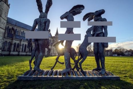 Groteske Figuren in Salisbury