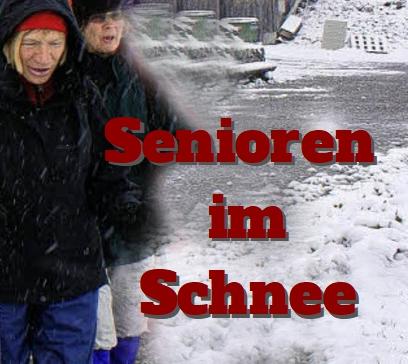 Rentner im Schnee